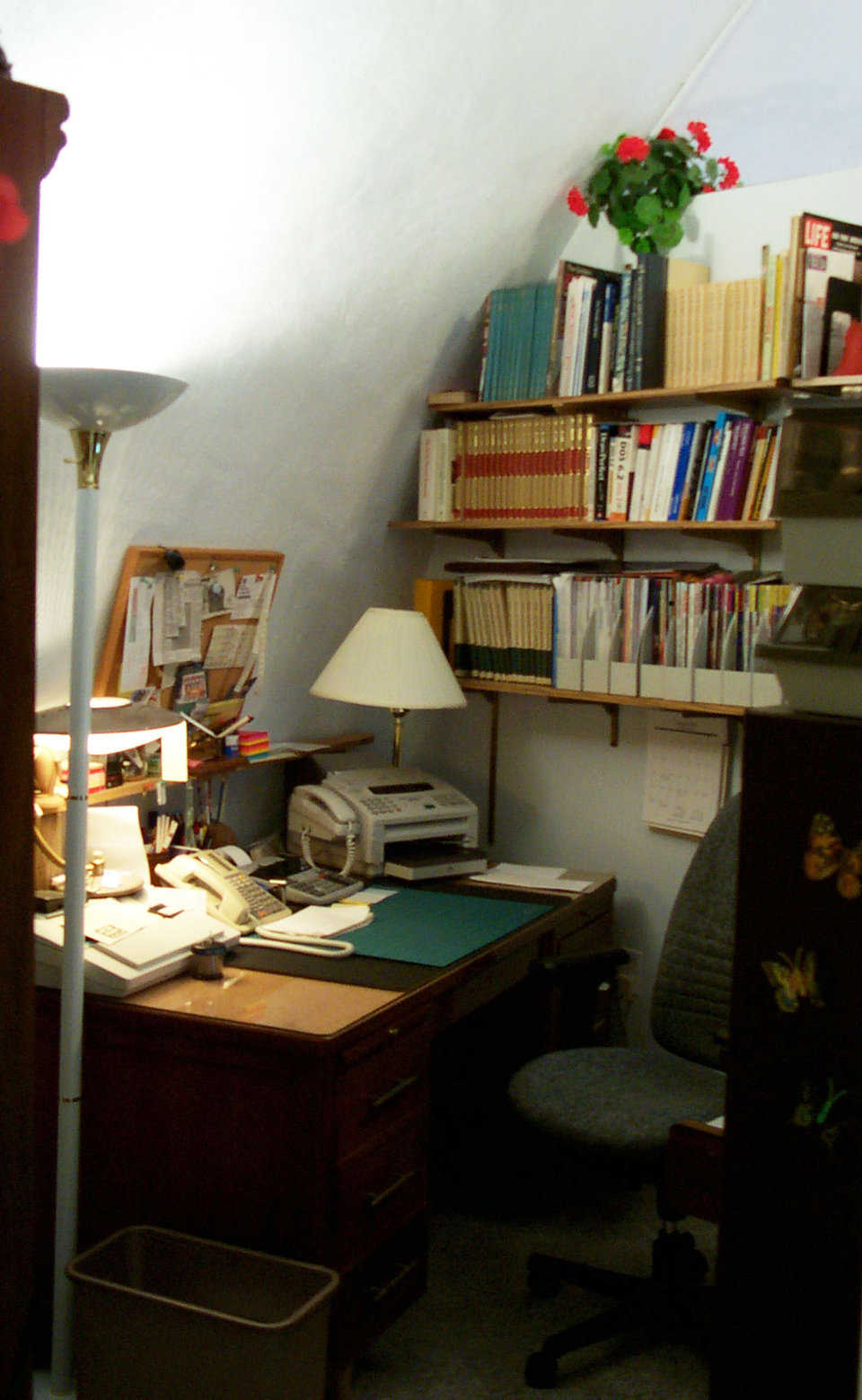 Office — Don Tuttle spent many hours on the phone and computer in this room, looking for an insurance agent who would help him. His efforts paid.
