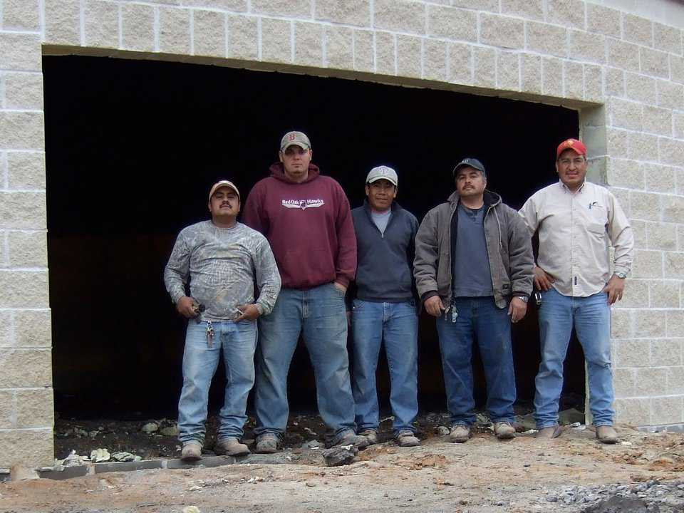Experience — The Monolithic Construction Crew has combined experience of over 45 years.  (L-R) Hector Sanchez, Jeff Evans, Andres Garcia, Javier Chaire, and Javier Figueroa