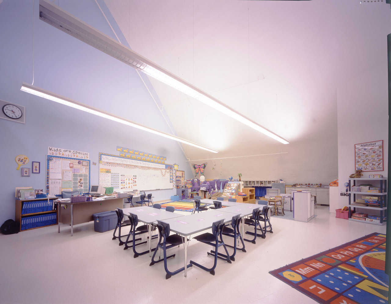 Classroom at Grand Meadow — The school district received plan approval and a grant from its state legislature for the construction of Grand Meadow's five Monolithic Domes partly because of the domes' ability to provide  near-absolute disaster protection.