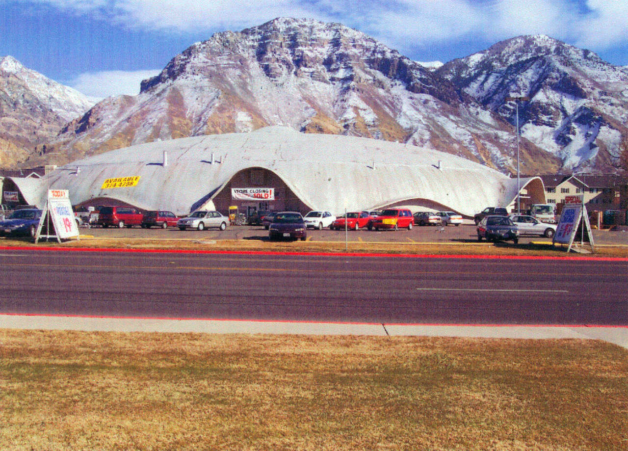 Ream's Turtle — Originally named Winter Garden Ice Rink when it debuted at BYU's 1963 Winter Carnival, the Ream's Turtle was a triaxial elliptical dome, 240' long, 160' wide and 40' high at its center.