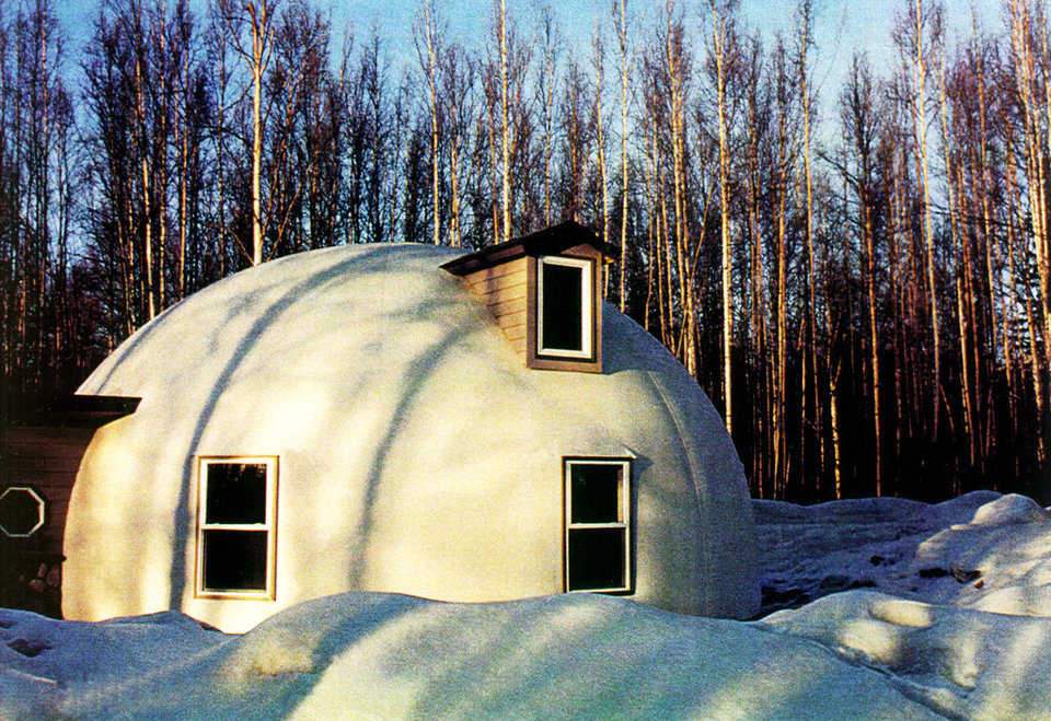 Finally warm and secure — The Morrisetts love their Monolithic Dome home. They enjoy the warmth and security it provides.