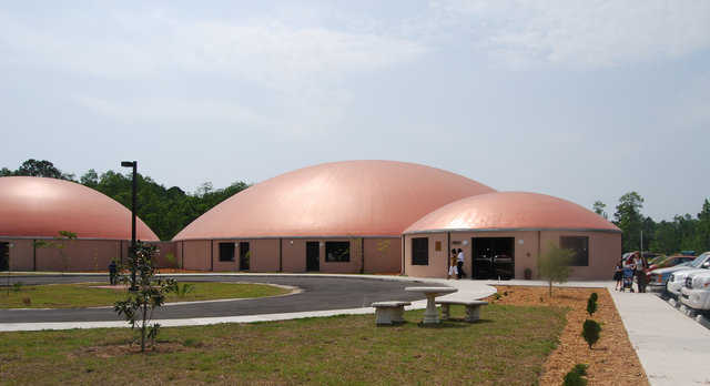Children's Reading Center (CRC) — On its 11-acre site, CRC built a facility with five Monolithic Domes, funded primarily through a USDA loan.