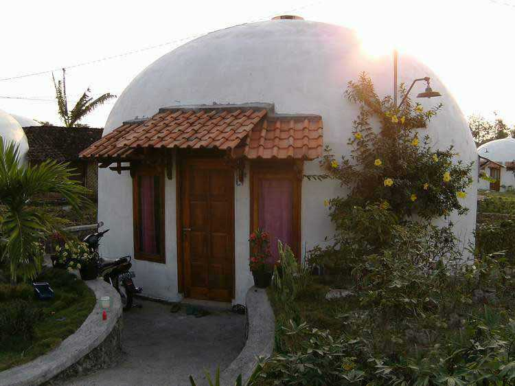 One of the 20 foot Monolithic Ecoshells built in Indonsia