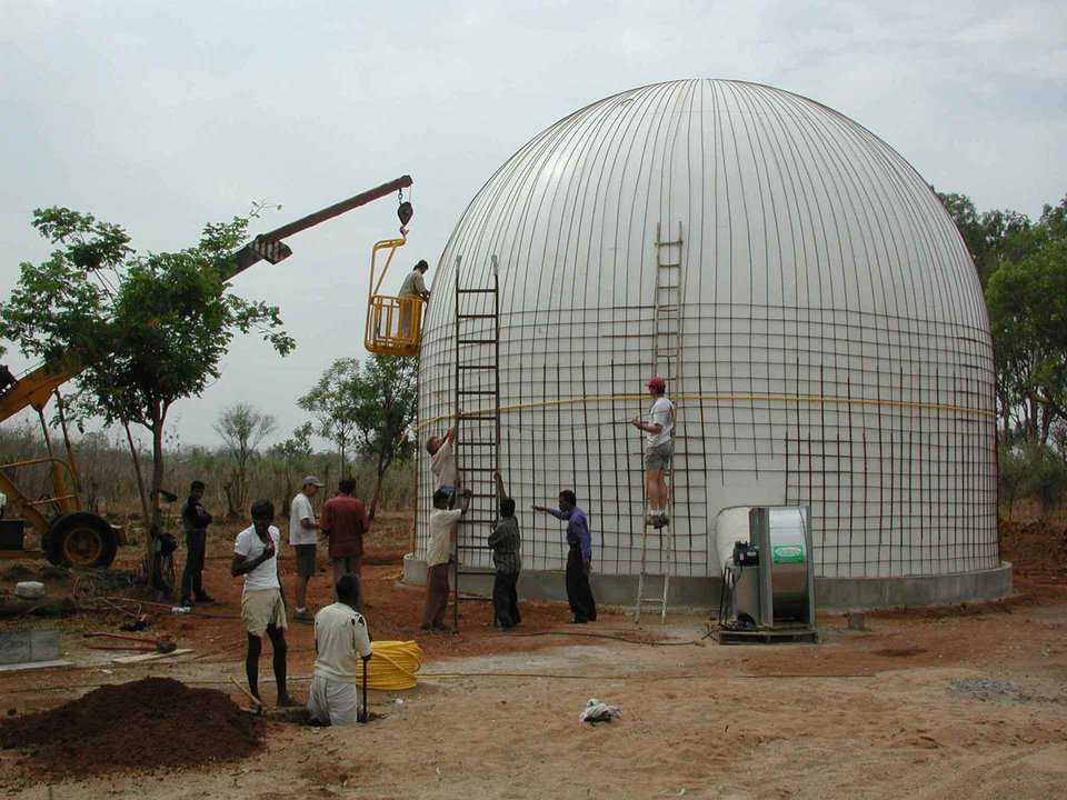 New Oroville, India — These EcoShells are 32 feet in diameter and 26 feet tall.  This company plans on building four thousand more structures.