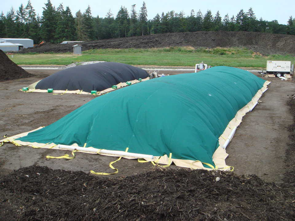 Compost Cover — Manufactured in Bruco, these compost covers create an odor free option for the composting industry and home composters alike.  See www.odorfreecompost.com.