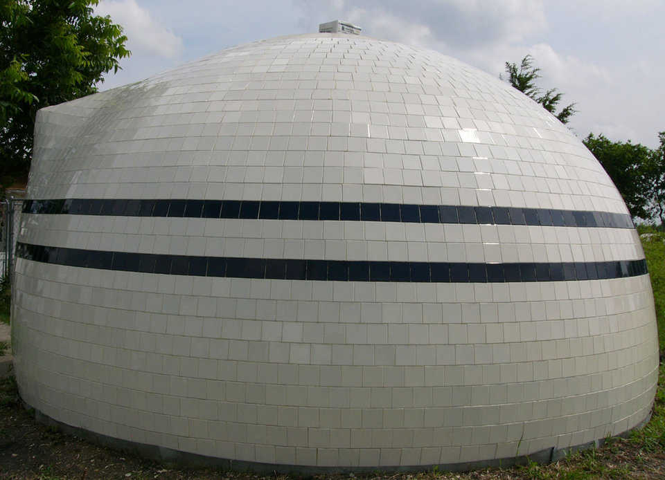 Attractive — Tiling a dome is not only a practical protection solution but a very attractive one. The tile should be porcelain or at least frost proof.