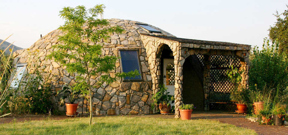 Stone Dome — Owners had their Monolithic Dome home in Utah covered in beautiful stone.