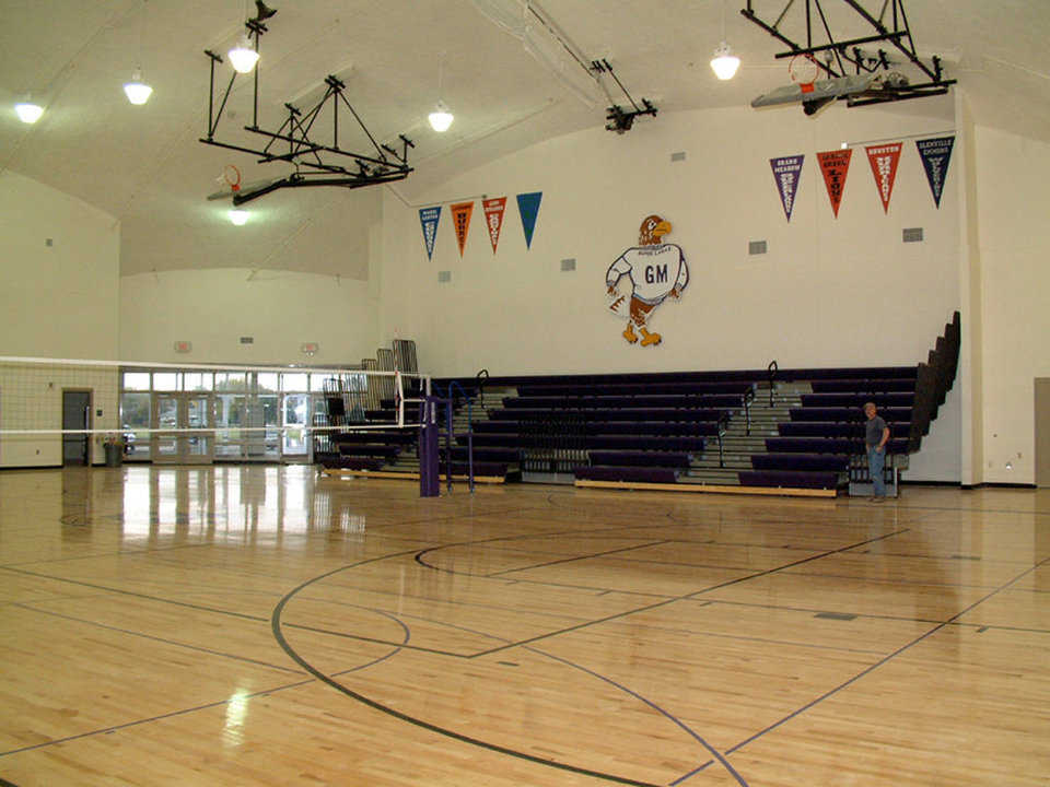 Gymnasium — It's equipped for a full range of school athletics, activities and special events.