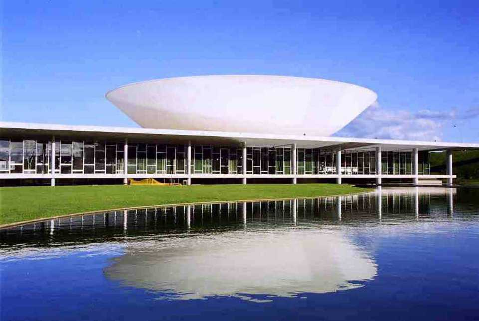 Brasilia National Congress Complex—Central Brazil — As an architectural experience or a dream of a futuristic city, this government facility is a unique one.