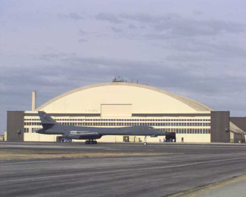 Ellsworth AFB PRIDE Aircarft Hangar—Rapid City, South Dakota — Ellsworth AFB's exterior appearance is historic, a reminder of the early cold war era and a period of significant growth for this base.