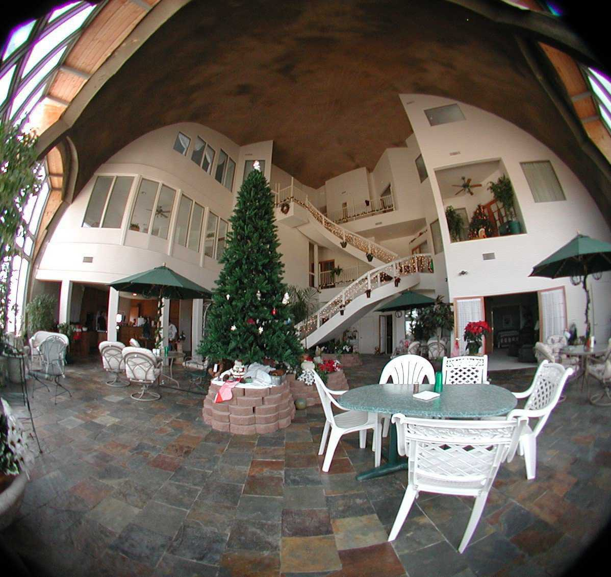 "Fish-eye photo — View using a ""fish-eye"" lens. It captures the domes depth and expansiveness."