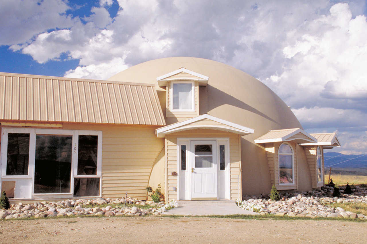 The Jones Monolithic Dome Home — The family made picture boards about this dome and its qualities. They would place these in the driveway and answer questions from curious visitors.