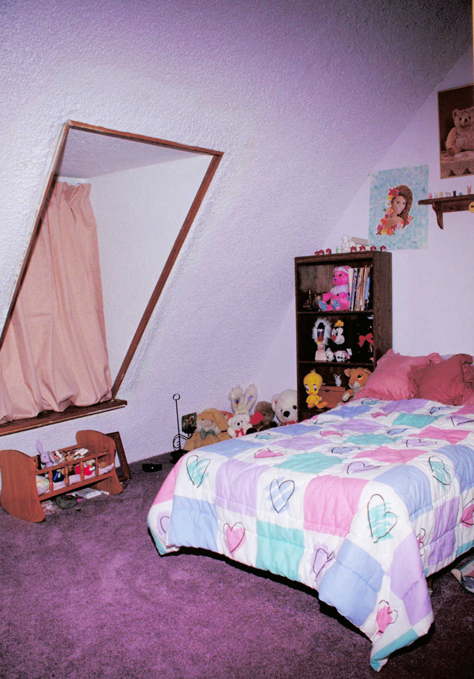Pink! — It's a girl's bedroom — no doubt about that!