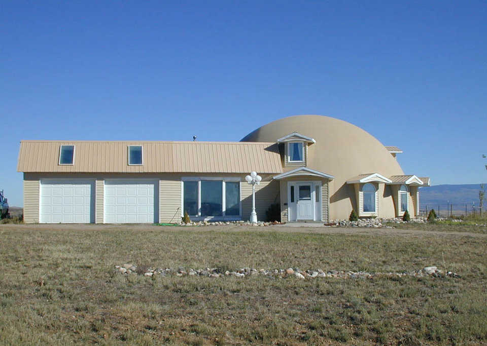 Site with a view — This Monolithic Dome home sits on a hill, above Craig, Colorado, at an elevation of 6200 feet.