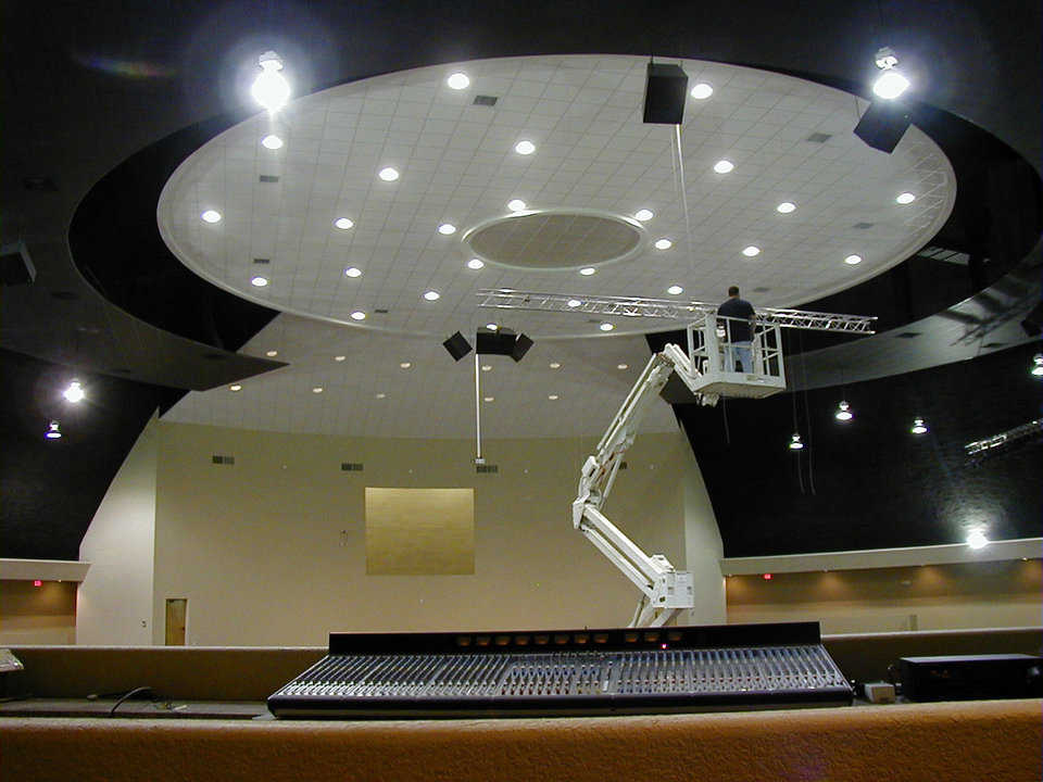 Sound and sight — Porter Falcon of Falcon Audio installed the audio/video equipment.