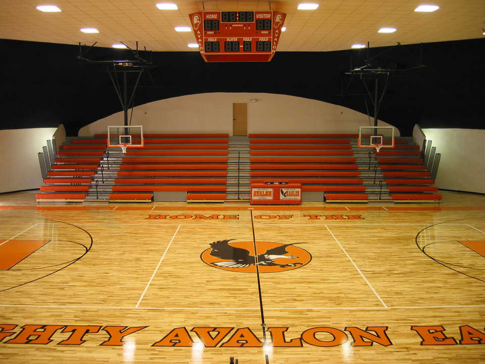 Below budget and ahead of schedule — Avalon's multipurpose center, with seating for 720, was completed $50,000 below budget and two months ahead of schedule.
