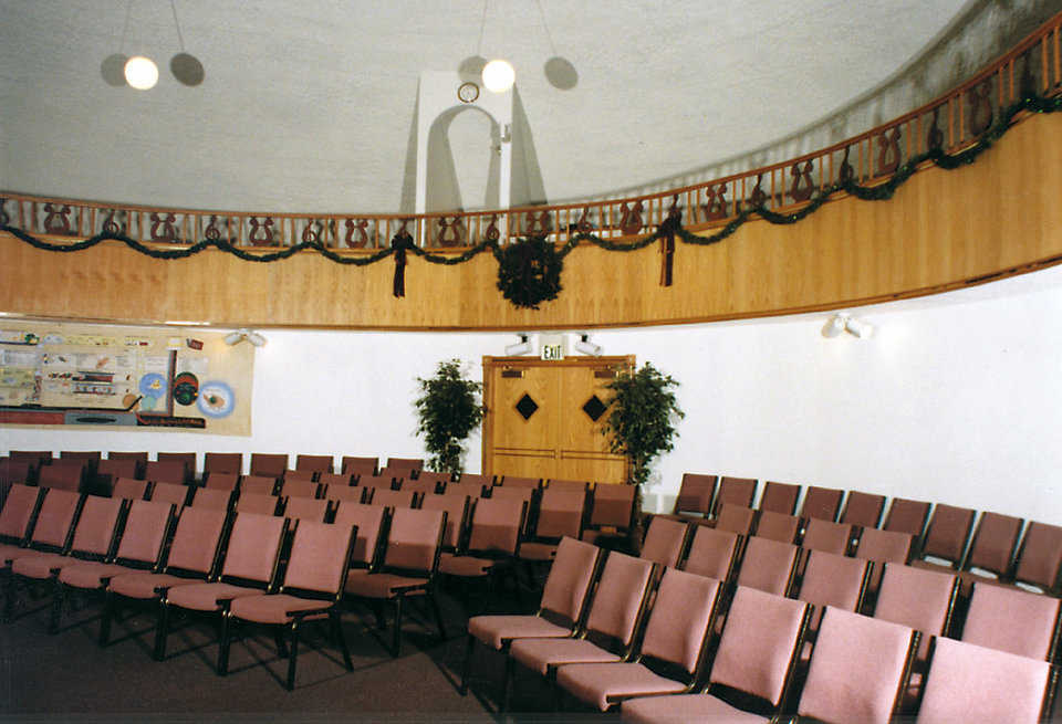 Congregation Seating and Balcony — It's a warm, secure and peaceful prayer place.