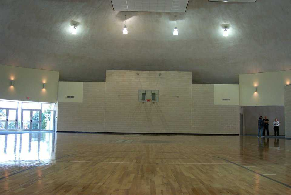 Oakdome — Built by the DFW Church of Christ Jesus in Carrollton, Texas, this retreat center includes the Oakdome gym.