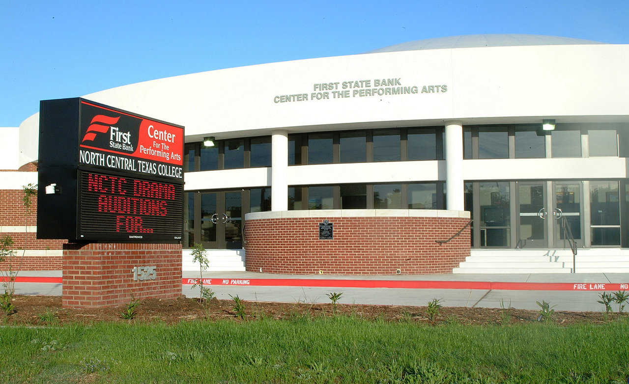 FSB at NCTC — The First State Bank of Gainesville, Texas sponsored the name of the new Performing Arts Center at North Central Texas College.