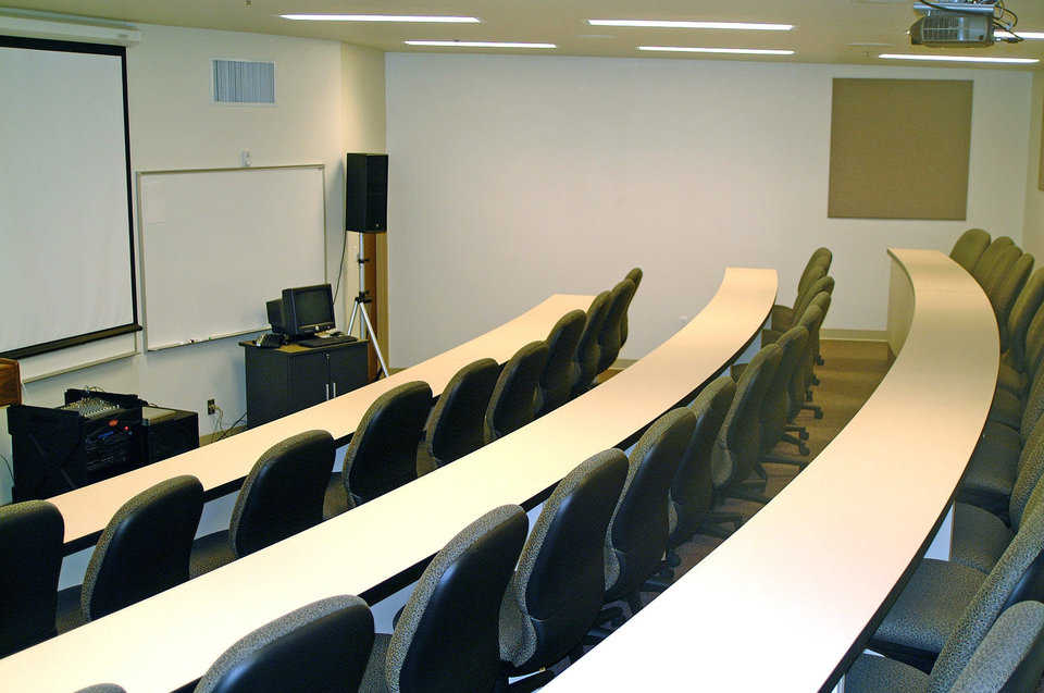 Lecture Hall — This 40-seat Lecture Hall is equipped for power-point presentations.