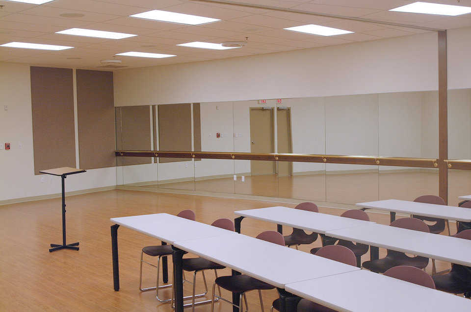 Special spaces — The FSB Center includes rooms for just about every artistic college activity.