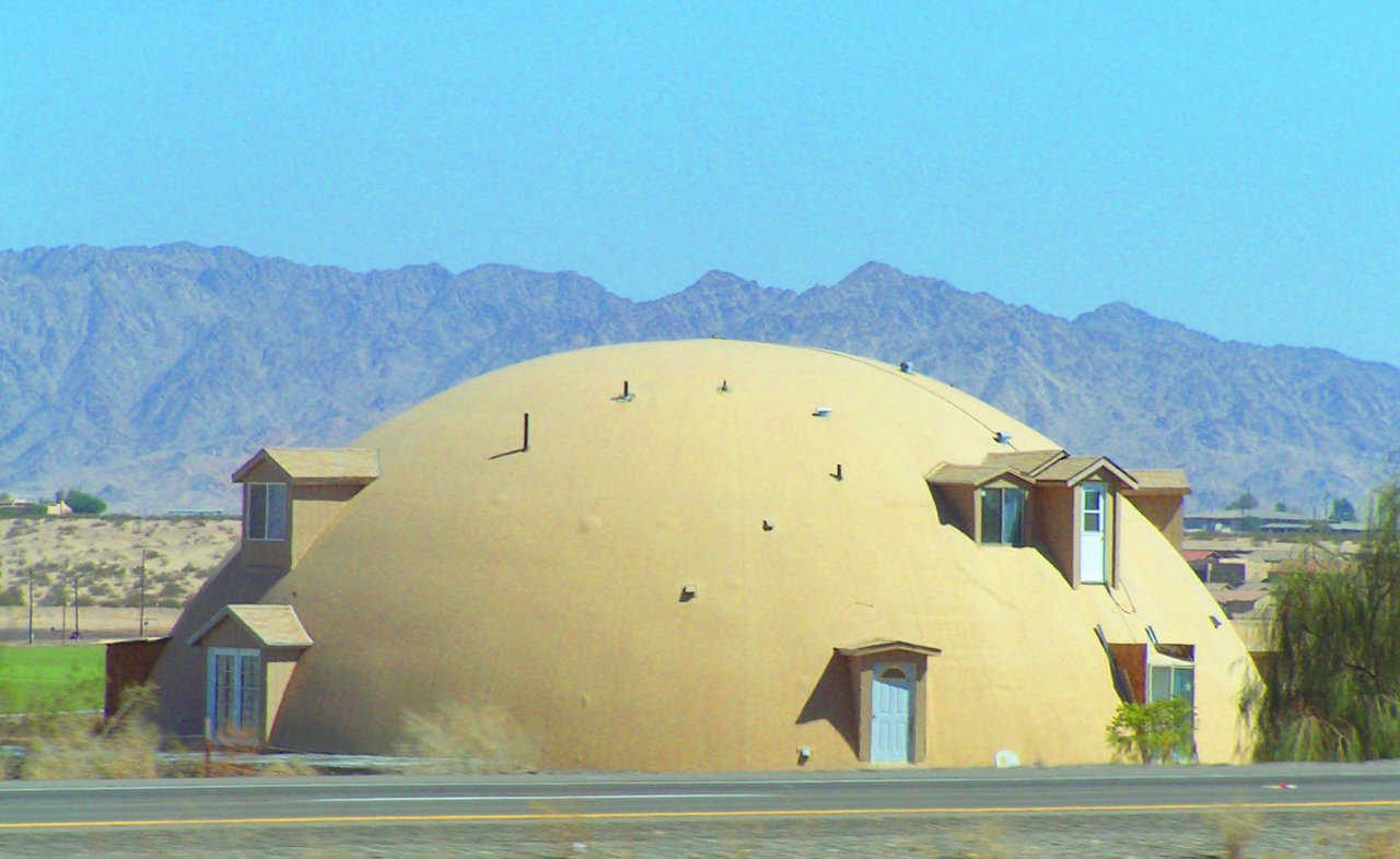 "YumaDome — Talk about HOT!! This home, dubbed ""YumaDome,"" is in Yuma, Arizona where many summer days exceed 100 degrees."