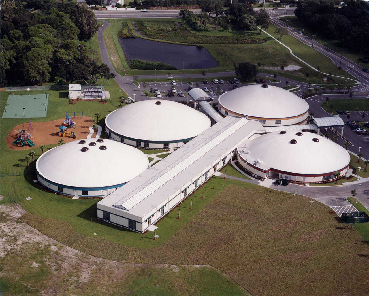 A first! — Bishop Nevins Academy is the first Monolithic Dome School in Florida.