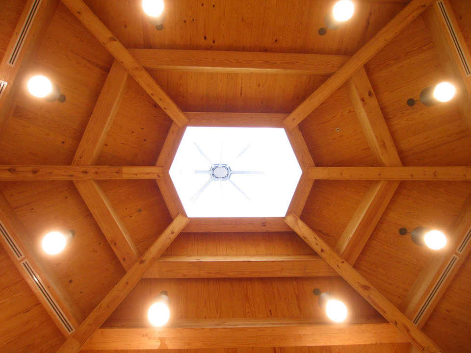 Skylight — It allows light to enter the chapel.