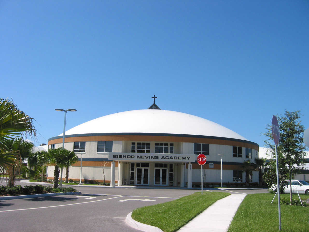 Bishop Nevins Academy — Approximately 500 students attend this beautiful Monolithic Dome facility.