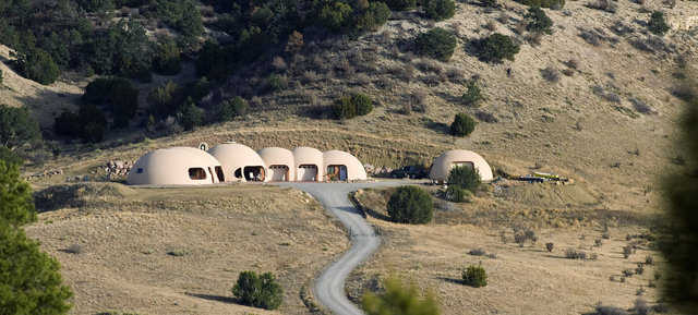 Merrell Residence — Ray and Beth Merrell's dome sits on a bluff in the Hatchet Ranch development south of Pueblo.