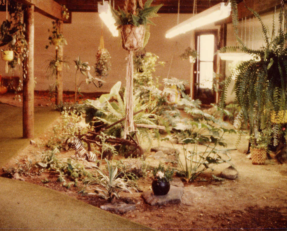 Indoor Garden — Its 1000 square feet included a pond and a banana tree that actually bloomed and bore fruit in 1984.