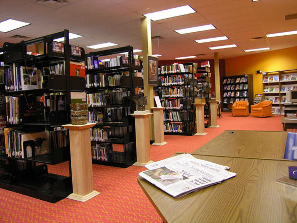 Library — An extensive, multimedia library serves SCA's 280 students.