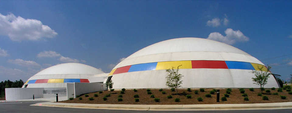 Art School of the 25th Century — SCA has a campus of three, two-story domes, each with a diameter of 120 feet and a height of 34 feet.