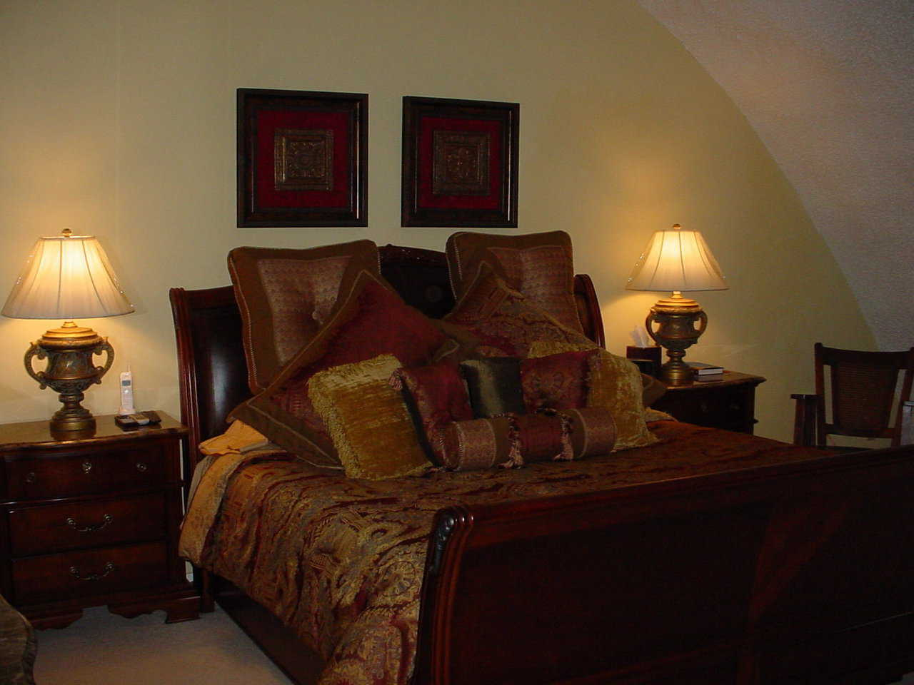 Master bedroom — It's spacious, comfortably furnished and has an attached sitting room.