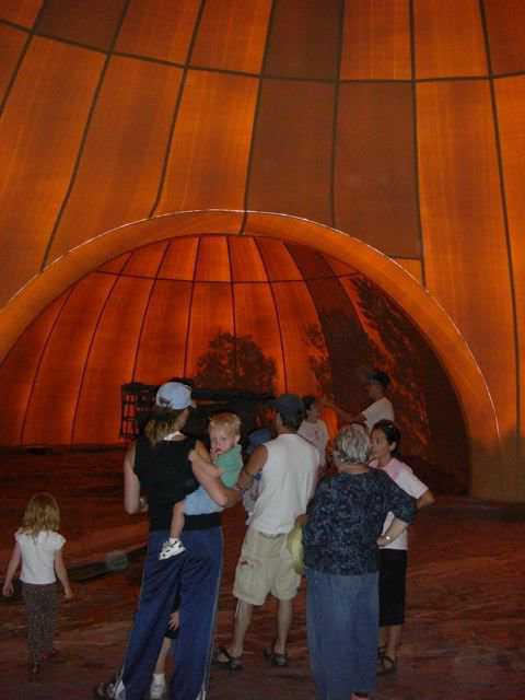 It's up!  — After the Airform was inflated, friends and neighbors toured the inside and were amazed.