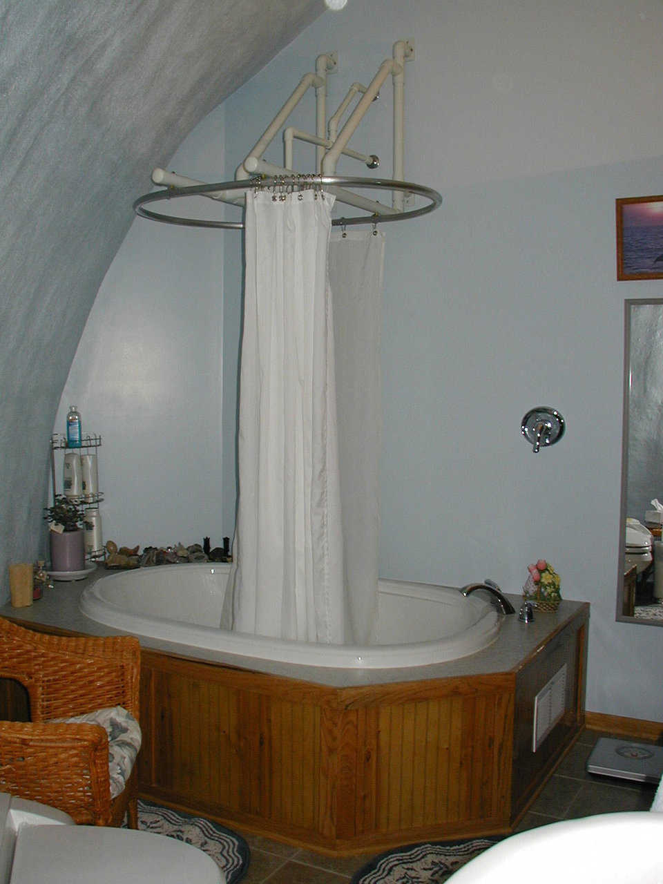 Master Bath — It includes a shower/tub combo.