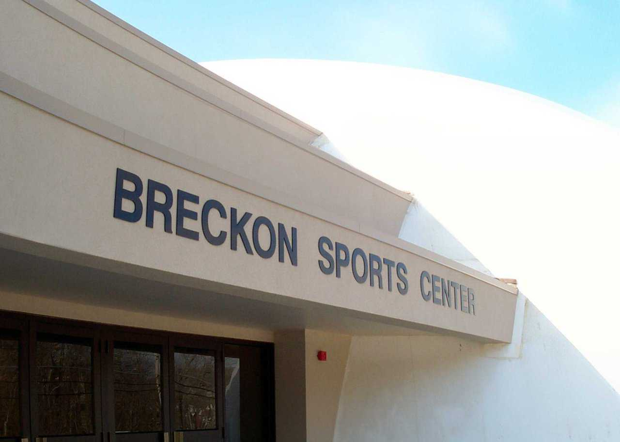 Breckon Sports Center — This two-story, 3289 square-foot office complex, flanked by two gyms, provides convenient access to restrooms, concessions and administrative offices.
