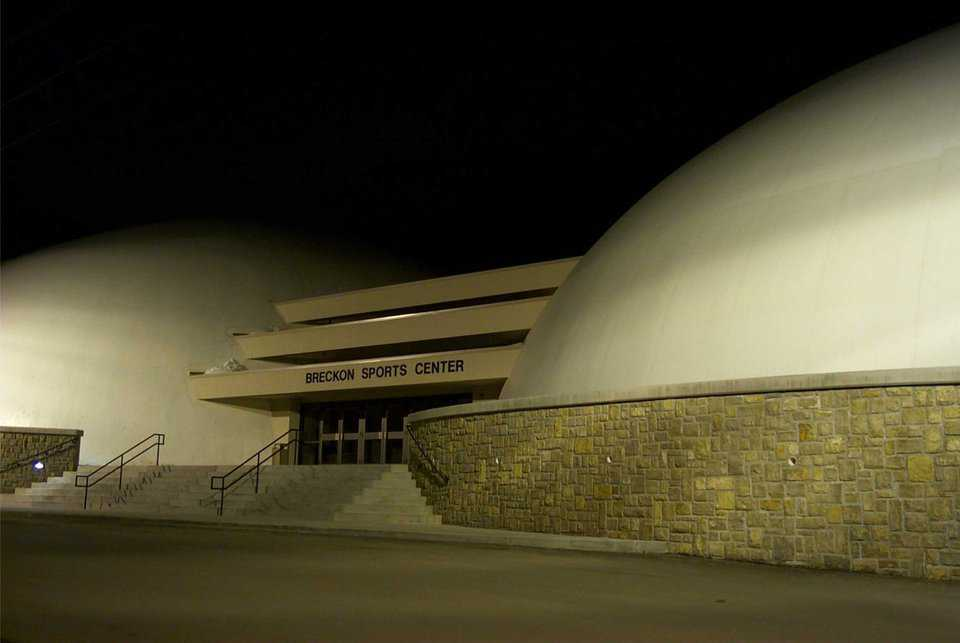 Visual interests — Exterior wall and lighting around the Monolithic Domes adds visual interests and depth. Entire facility encompasses 31,891 square feet.