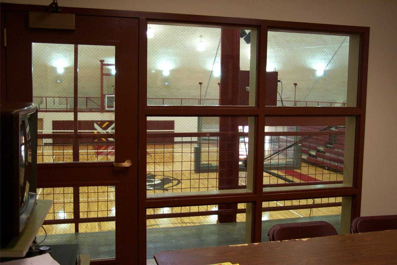 Visiting referees — They have an official room in the upper level of the Performance Gym. Large windows provide a great view of the scoreboard and half-time action.