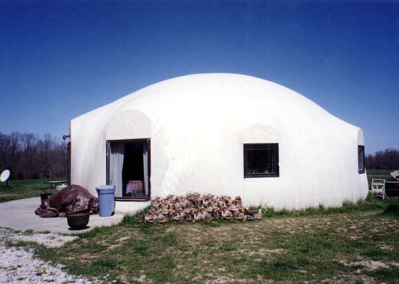 Morgan Home — This Monolithic Dome home has already successfully survived a devastating tornado. It's a 40-foot-diameter dome with two bedrooms, one bath and a loft.