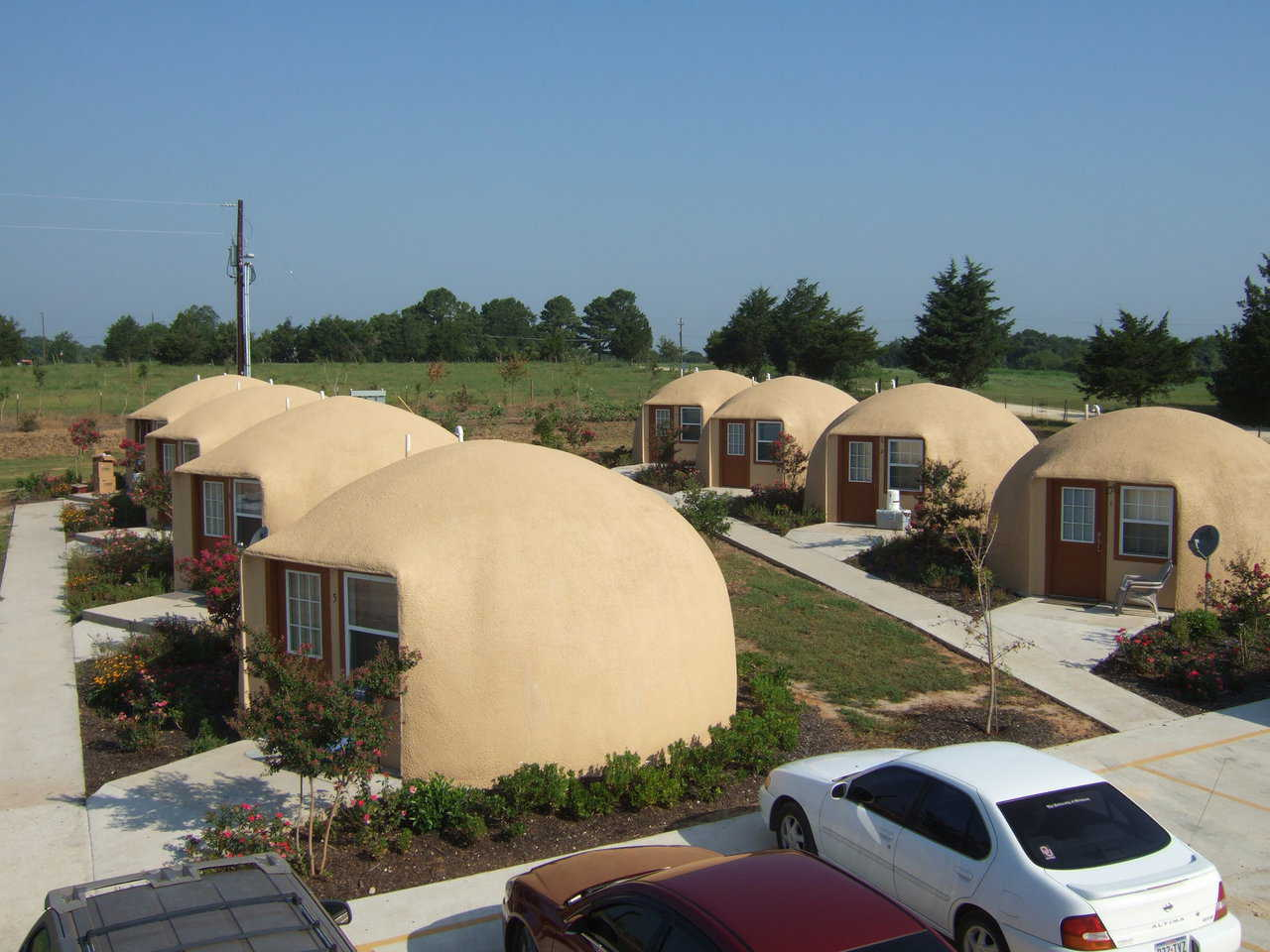 The Inn Place — With the completion of construction in Phase I, the Inn Place had eight Monolithic Dome units available for rental.