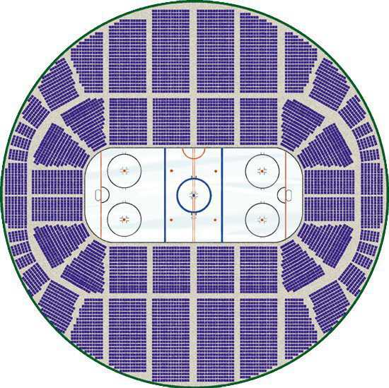 Huge hockey arena		 — A Crenosphere designed as a national or international hockey arena could accommodate thousands of fans and provide each with an unobstructed view of the action.