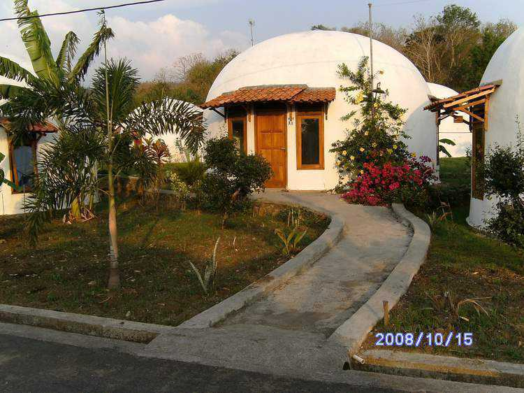 Typical EcoShell Dome — Seventy-two of these homes have been completed and are now in use.