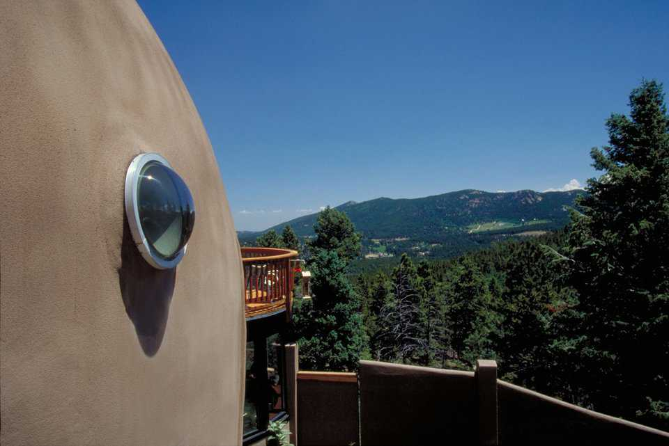 View of the Rockies — The deck and its view of the Rockies is a favorite spot.