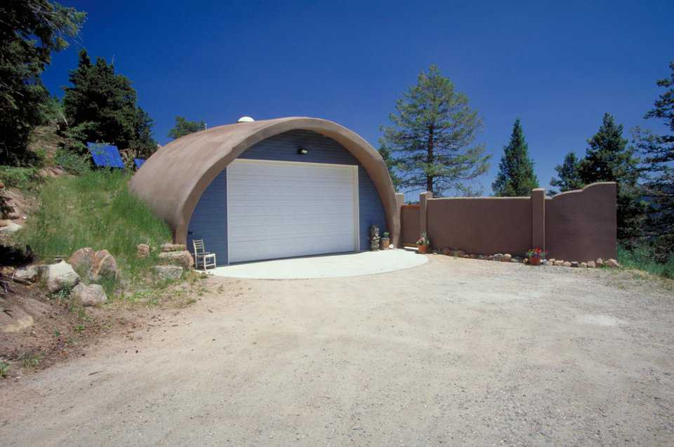 Garage — It's a Monolithic Dome with a 32-foot diameter.