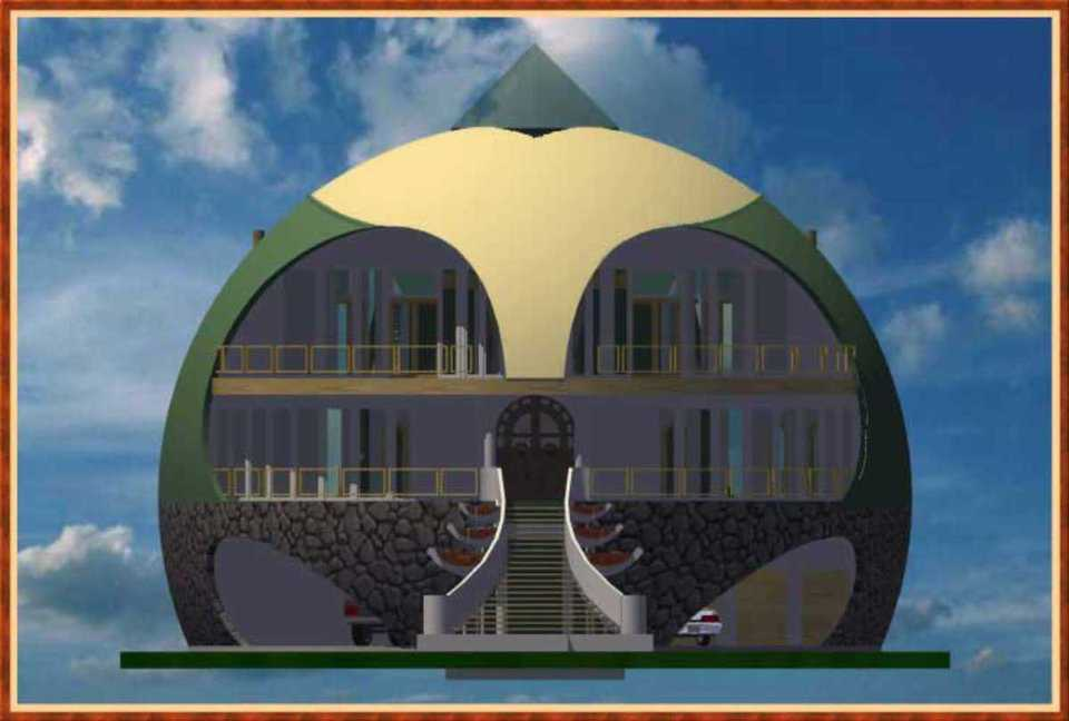 Dome rendering — This rendering of an aesthetically beautiful dome structure is a creation of Dragon Speed Design Group.