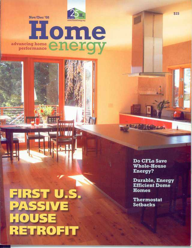 In the November/December 2008 issue, Home energy has an article about Monolithic Domes.