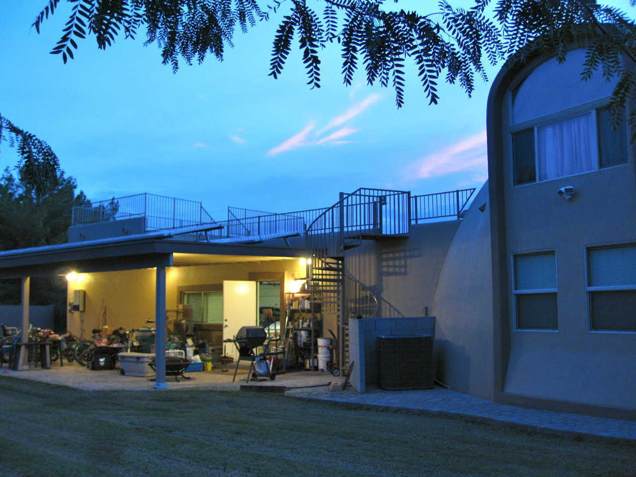 Patio – The Stouts built a jumbo-size patio on the backside of their garage.