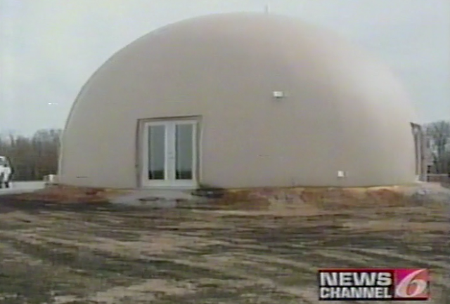 Dome in Marlow, OK survived a 3000 acre wildfire.