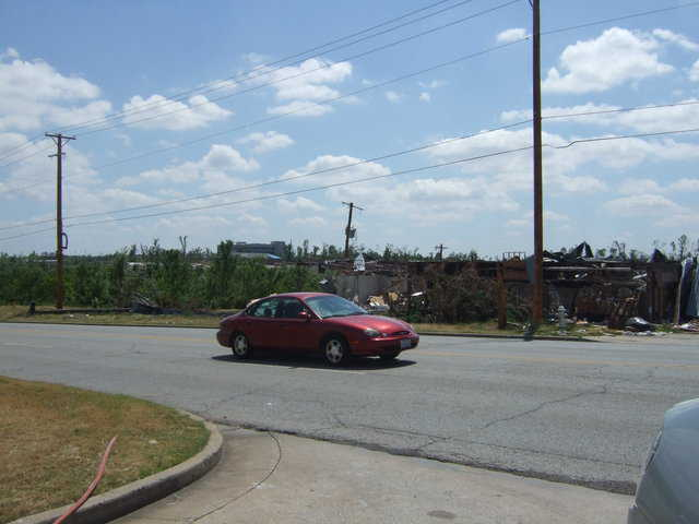 On their drive into Joplin, Judy and David saw a lot of devastation.